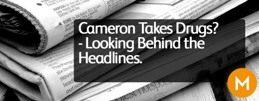 Cameron takes drugs