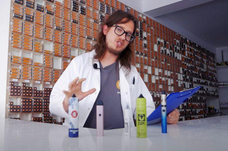 Aiden showing different nic salts vape juice