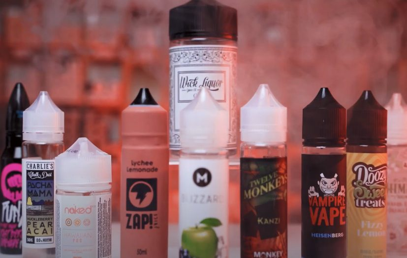 picture of different vape juice bottles