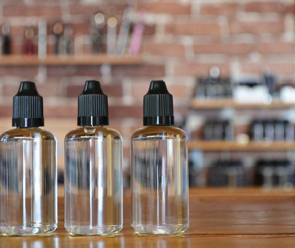 Three bottles of eliquid