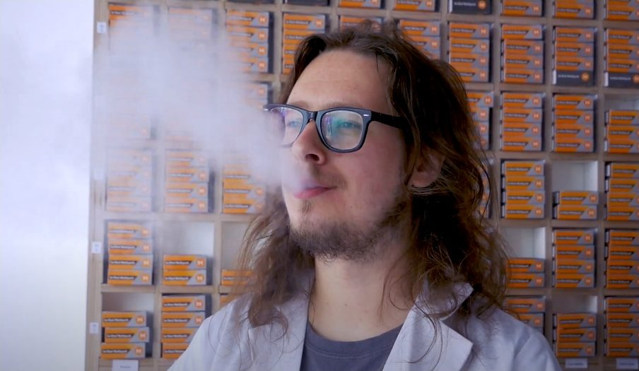 Picture of a man vaping