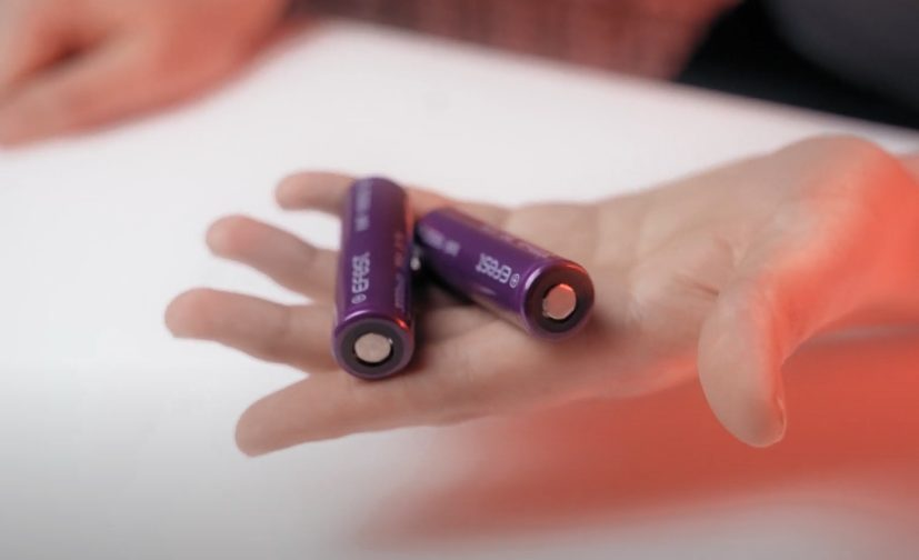 pair of vape batteries on the palm