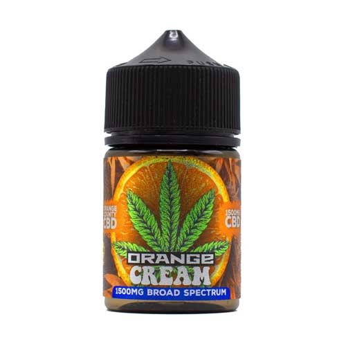 A picture of Orange County CBS's Orange Cream CBD vape juice