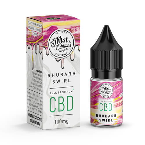 Rhubarb Swirl - CBD 10ml 100mg by misteliquid.co.uk